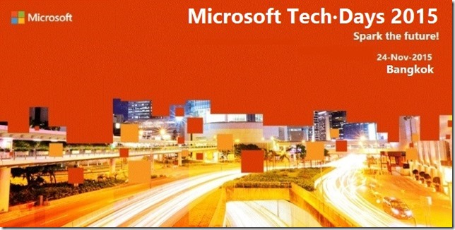 Microsoft Tech.Days 2015 | Spark the future