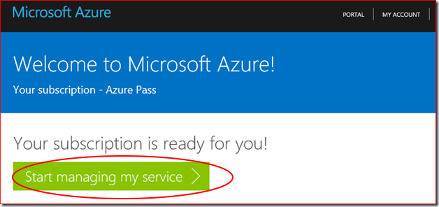 Try Microsoft Azure Pass